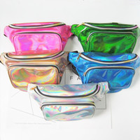 50PCS 2017 New women metallic silver Fanny Waist bag chest p...