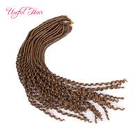 Goddness crochet 22inch déesse locs cheveux demi-droites demi bouclés tresses extension de cheveux synthétiques freetress faux locs crochet tressage cheveux