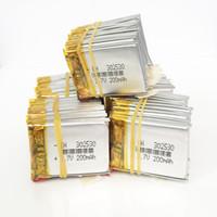 3.7 V 200mAh литий-полимерная LiPo аккумуляторные батареи питание для Mp3 Mp4 DIY PAD DVD E-book bluetooth-гарнитура 302530
