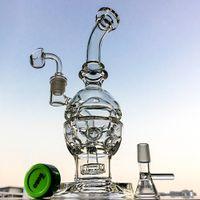 Стеклянные бонги Швейцарские PERC Рециркулирующие водопроводные трубы 14,5 мм совместное потрясающее яичный масло DAB DAPHALD PERC кальян Трубы бесплатная доставка MFE012