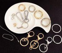عالية الجودة المشبك جراد البحر السنانير مفتاح حلقة مفتاح سلسلة الملحقات سبيكة صنع المجوهرات المواد الذهب والشظية