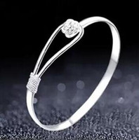 Romantic flower bracelet 925 sterling silver bracelet for wo...