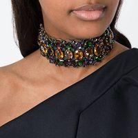 Neue Marke Big Strass Choker Halskette 2017 Bib Aussage Halskette Kristall Luxus Chunky Kragen Maxi Schmuck Hochzeit Zubehör
