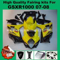9Gifts, Verkleidungskits für SUZUKI GSXR1000 07 08 # CJ0133 GSX-R1000 2007 2008 Verkleidungskit K7 K8 gelb schwarz ABS