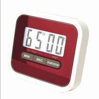 مؤقت مطبخ رقمي 24/24 ساعة مع ساعة ومنبه بصوت عال للعد التنازلي UP مؤقت LCD رقمي 99 دقيقة و 59 ثانية رمز المنتج: 85-1006