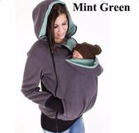 Babytragejacke Frauen Känguru hoodies Mutterschaft Schwangere Schwangerschaft Reißverschluss Mantel Frauen Tragen Baby Sweatshirt