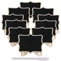 20 pcs Mini Rectangle Tableau avec Chevalet Stand Liquide Craie Message Conseil Panneaux De Table De Mariage Titulaires Étiquette Alimentaire De Table