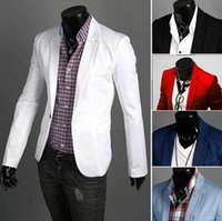 BRAND NEW Leisure Outwear Male Blazers Slim Fit Solid Color ...