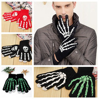 New 4 styles fashion Hallowmas Knitted gloves personality pr...