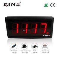 [GANXIN] Display digitale a LED a 4 cifre ad alta risoluzione con LED Characte Contatore digitale a 12v conteggio indietro / in alto 0-9999 con telecomando a infrarossi Colore rosso