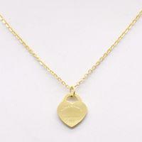 Горячая продажа дизайн сердце любовь ожерелье для Wome нержавеющей стали Аксессуары Циркон сердце любовь ожерелье для женщин дар Jewelry нет коробки
