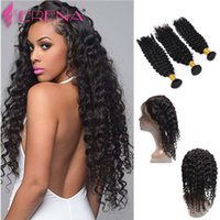 360 Lace Frontal With Bundle Pre Plucked 7A Deep Wave Curly ...