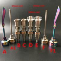 Titanium Carb Cap Dabber Quartz Enail Quartz Hybride Titanium Nail Joint10mm 14.5mm 18.8mm Femelle et Mâle fit 10mm 16mm 20mm Enail coil