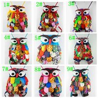 Colorful Ethnic Style Owl Children Package School Bags child...