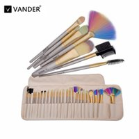 Vanderlife 24 32Pcs set Champagne Gold Oval Makeup Brushes P...