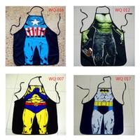 Personalità di Superman Batman Grembiule Grembiuli creativi divertenti coppie regali sexy