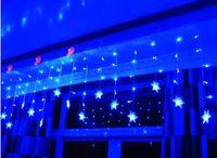 Forma de la nieve LED cortina String 96Leds líneas cortina de luz de hadas para la boda de Navidad decoración de la ventana