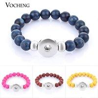 NOOSA Perle Bracelet Élastique Ginger Snap Jewelry 9 Couleurs 18mm Snap Button NN-301