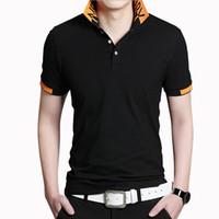 Hombres polo camisa stand cuello de manga corta camisas algodón delgado ajuste camisa polos masculina más tamaño 5xl negocio casual handly sociedad marca ropa