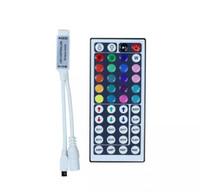 DC12V 6A Mini RGB Controlador LED con 44 teclas IR Control remoto Dimmer Inalámbrico para tira LED 5050 3528 34 Modos