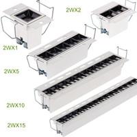 Alta CRI 90 Semáforos Teto Mais do que uma luminária, Revestimento Branco, Recesso LED Linear Downlight Aparência Única Truque de luz