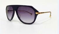 Nuovi occhiali da sole stile estate stile vintage occhiali da sole steampunk in stile Goggle telaio metallo bordo gambe Z0570 pieghevole in metallo gambe design italiano