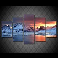 5Pcs Set HD Printed iceland jkulsrln Painting Canvas Print r...