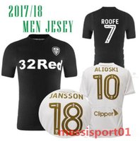 aaa+ quality 2017 2018 Leeds United Black away soccer Jersey...
