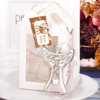 크리 에이 티브 엔젤 디자인 십자가 모양 오프너 결혼식에서 돌아 가기 선물 웨딩 기념품 작은 선물 금속 오프너 S201758