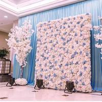 40X60 cm Yapay Ipek Çiçek Duvar Gül Ortanca Şakayık Çiçek duvar dekorasyon düğün sahne Otel Arkaplan ev dekorasyon