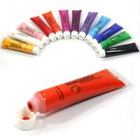 New 12 colori acrilici per unghie Nail Art 3D 12ml Pittura Pigment Design Suggerimenti Tube Set