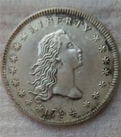 الولايات المتحدة رايات تمثال نصفي الدولار 1794 عملات نسخ هجر الفاظ قديم تبحث الولايات المتحدة عملات النحاس الحرف \ بيع كامل شحن مجاني