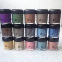 Frete Grátis NOVO 7.5g pigmento Sombra / Mineralize Sombra de Olho Com Cores Inglesas Nome 24 cores (12 pçs / lote) cor aleatória misturada