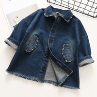 Everweekend Girls Denim Jackets Vintage Sweet Lapel Neckline...