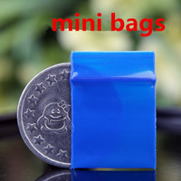 Blue Mini Miniature Zip Lock Grip Plastic Storage Packaging ...