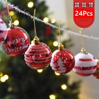 높은 품질 24 개 색 드로잉 장식 플라스틱 공 크리스마스 트리 장식 크리스마스 공 Decorantion 축제 축제 파티 용품