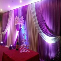 3M*6M backdrop with sequins swags wedding backcloth With seq...