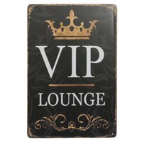 VIP LOUNGE tin sign Vintage home Bar Pub Hotel Restaurant Co...