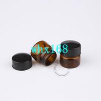 DIY Temel Makyaj Araçları 50 x 5ml Amber Cam Şişeler Boş Numune Ekran Şişeleri Küçük Kozmetik Ambalaj Ücretsiz Kargo 5g