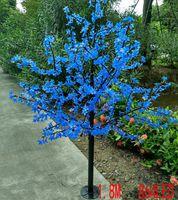 LED Wodoodporna Krajobraz Outdoor Garden Peach Tree Lampa Symulacja 1.8 Metrów 864 Światła LED wiśni Kwiat Drzewo Światła Ogrodowa Dekoracja