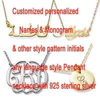 Customized Name Necklace Personalized Arabic Font Sterling S...