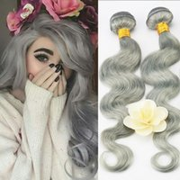7A Brazilian Virgin Hair Body Wave Platinum Grey 1Pcs Lot 10...