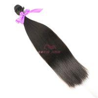 6 bundles+free shipping top grade silky straight Hair Weft Fiber natural color 1B High Temperature Hair Weaving Hair Extension