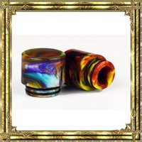 Newest Epoxy Resin drip tip Colorful Resin Wide Bore drip ti...