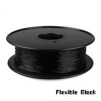 Freeshipping 1 كيلوجرام 1.75 ملليمتر خيوط سوداء مرنة ، خيوط فليكس ، خيوط المطاط للطابعة 3d