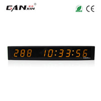 [Ganxin]2017 New 1 inch 9 Digits LED Wall Clock Yellow Color...