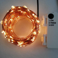 Outdoor Timer 20M 200 led 3AA Battery Powered Copper Wire Fa...