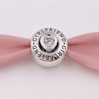 Authentic 925 cuentas de plata esterlina novia Charm Charms se adapta a las pulseras de joyería de estilo Pandora europeo Collar 792145cz