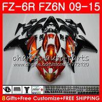 Corps pour YAMAHA FZ6N FZ6 R FZ-6N FZ6R 09 10 11 12 13 14 15 Orange noir 82HM3 FZ-6R FZ 6N FZ 6R 2009 2010 2011 2011 2013 2013 2014 2014 2015 Carénage