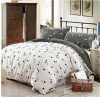 Wholesale 100% Cotton Modern Pink Grey Music Note Bedding Be...